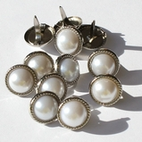 16mm Rope Pearl Brads - White