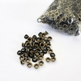 5mm Brushed Brass Eyelets - Bulk 1000/Bag