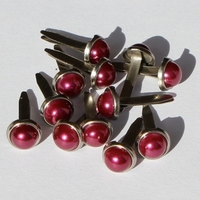 6.5mm Pearl Brads - Purple