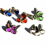 6MM Jewel Brads - Silver Edge - Choose Color