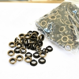 8mm Brushed Brass Bulk Eyelets - 250/Bag