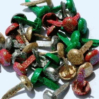 8mm Holiday Glitter Brads