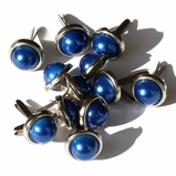 8mm Pearl Brads - Blue