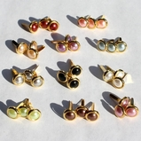 8MM Pearl Brads Gold Edge - Choose Color