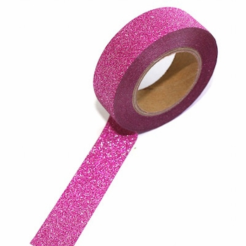 Glitter Bright Pink Washi Tape