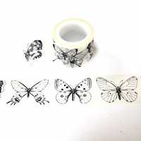 Butterfly Washi Tape - Black & White
