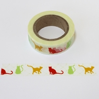 Cat Washi Tape - Colorful