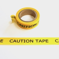 Caution Washi Tape