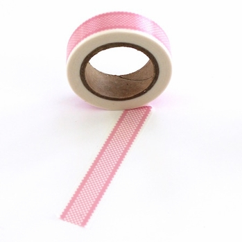 Checked Washi Tape - Pink