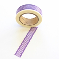 Checked Washi Tape -  Purple
