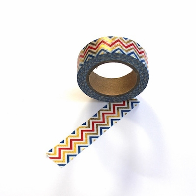 Chevron Washi Tape - Foil
