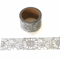 Coloring Book Washi Tape- Wide Flower