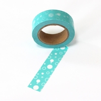 Dot Washi Tape - Blue White