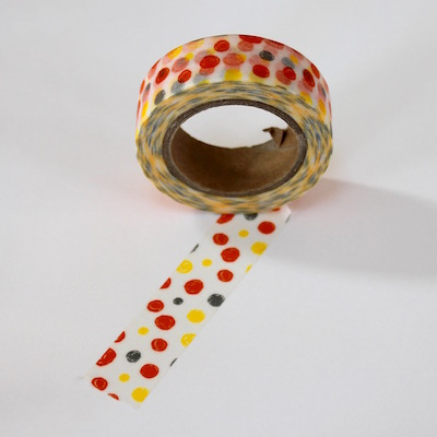 Dots Washi Tape - Black & Red