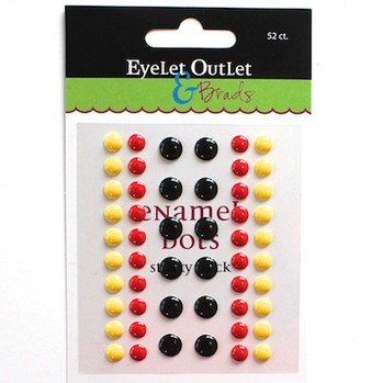 Enamel Dots- Mickey Colors