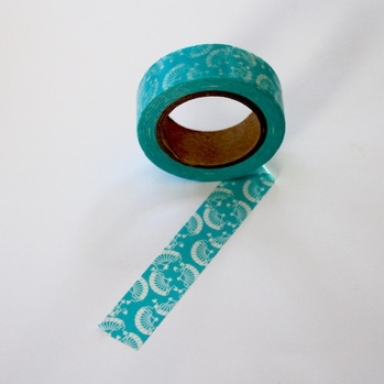 Fan Washi Tape - Blue