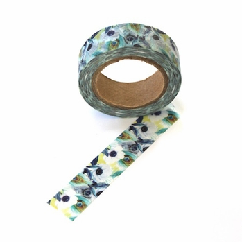 Flower & Feather Washi Tape