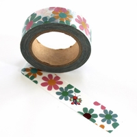 Flowers With Cute Bug Washi Tape - out of stock