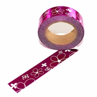 Foil Pink Flower Washi Tape
