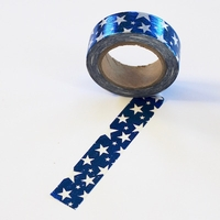 Foil Star Washi Tape - Blue