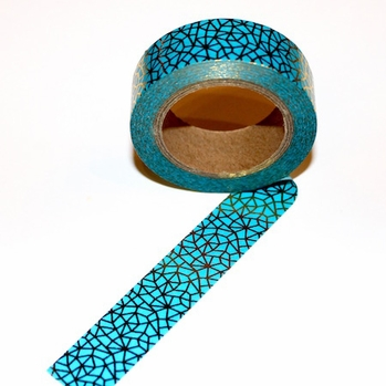 Foil Washi Tape - Blue/Gold Design
