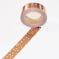 Foil Washi Tape - Copper Dots