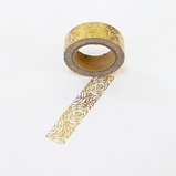 Foil Washi Tape - Gold Flower - out of stock