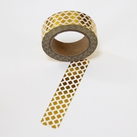 Foil Washi Tape - Gold Pattern