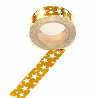 Foil Washi Tape - Gold/Stars