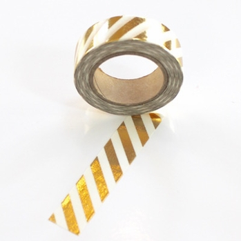 Foil Washi Tape - Gold Stripe - out of stock