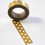 Foil Washi Tape - Gold/White Dots