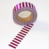 Foil Washi Tape - Pink Stripe