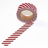 Foil Washi Tape - Red Stripe