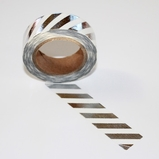 Foil Washi Tape - Silver Stripe