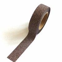 Glitter Brown Washi Tape