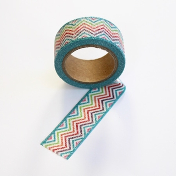 Glitter Chevron Washi Tape - Wide