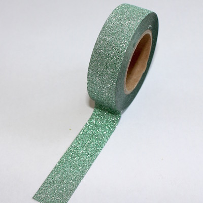 Glitter Green Washi Tape