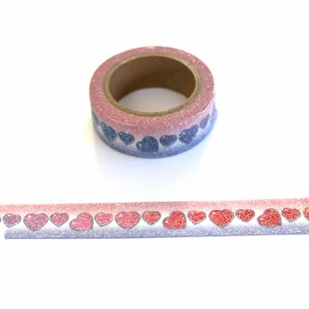 Glitter Heart Washi Tape