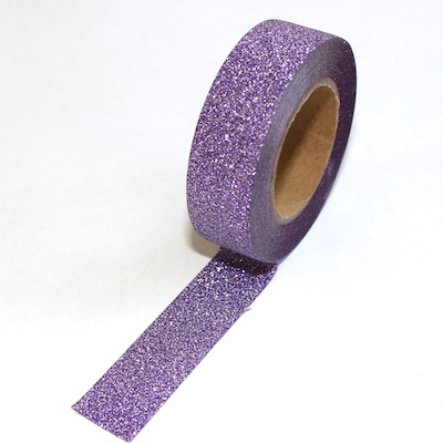 Glitter Light Purple Washi Tape