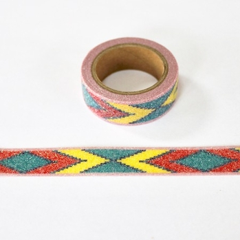 * Glitter Pattern Washi Tape