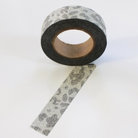 Glitter Silver Animal Print Washi Tape