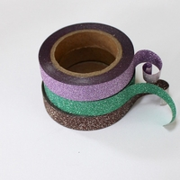 Glitter Skinny Washi Tape - Purple, Green, Brown