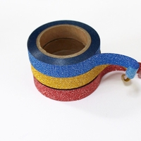 Glitter Skinny Washi Tape - Red, Blue, Gold