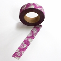 Glitter Washi Tape - Pink Hearts
