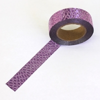 Glitter Washi Tape - Purple Patterned