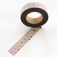Glitter Washi Tape - Red Stars
