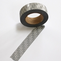 Glitter Washi Tape - Silver Blocks