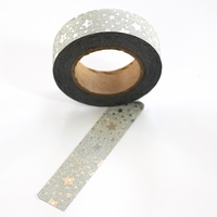 Glitter Washi Tape - Silver Star