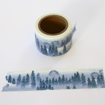 Glitter Winter Washi Tape - Wide - out of stock