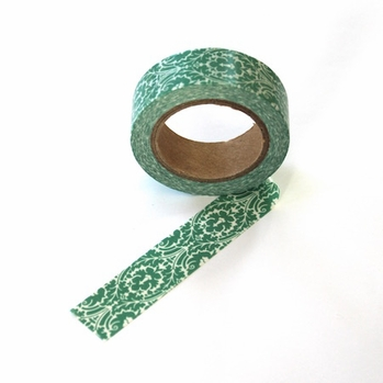 Green Pattern Washi Tape